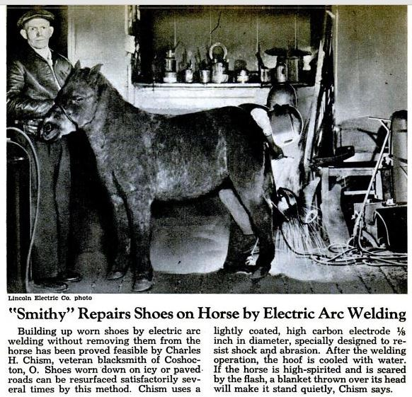 Name:  welding horse shoes 1945.JPG Views: 2197 Size:  110.3 KB