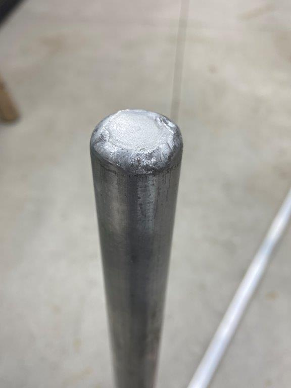 Name:  21. Cap welded to mast.jpg Views: 421 Size:  23.9 KB