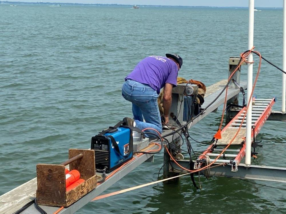 Name:  25.  Mark and equipment on dock.jpg Views: 341 Size:  130.9 KB